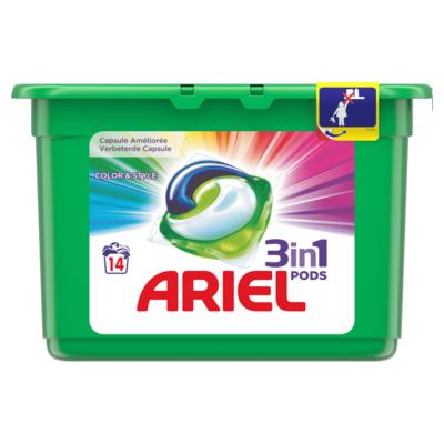 Ariel Pods 3 in 1 color & style 14 stuks