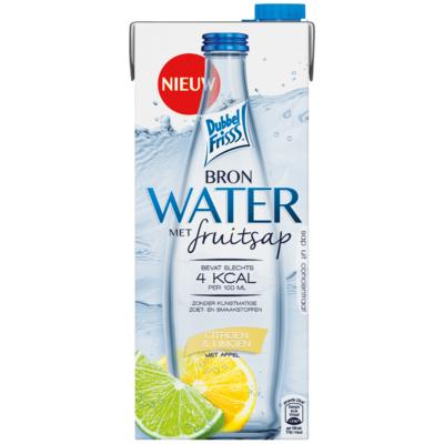 Dubbelfrisss Water met fruitsap citroen- limoen
