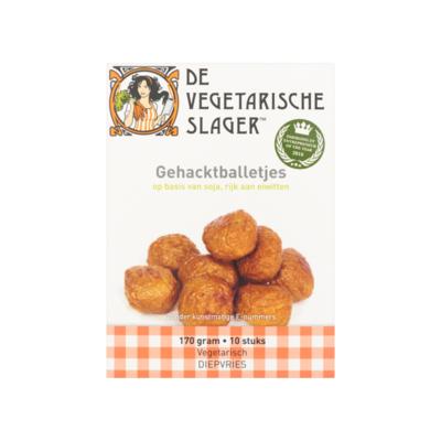 De Vegetarische Slager Gehacktballetjes 10 Stuks
