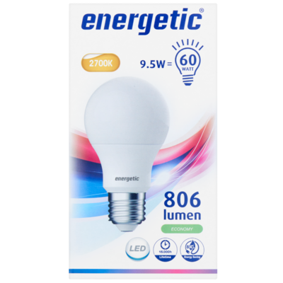 Energetic Led bulb frosted 60we27