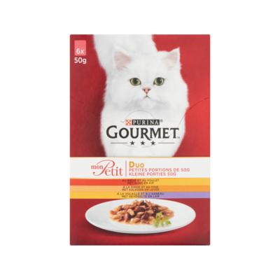 Gourmet Duo Kleine Porties met Rund en Kip, Kalkoen en Lever, Gevogelte en Lam