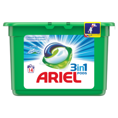 Ariel 3in1 Pods Alpine Wasmiddelcapsules 14 Wasbeurten