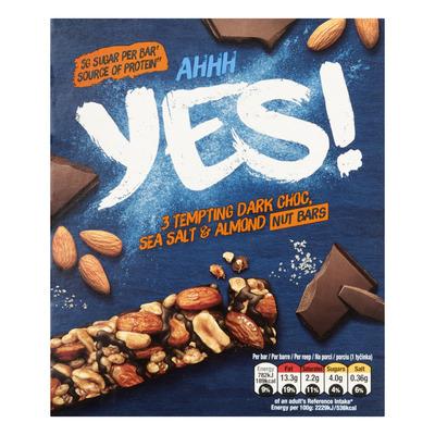 Yes Pure chocola & zeezout notenreep 3pack