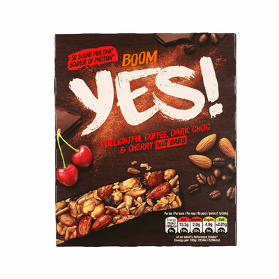 Yes Pure chocola & koffie notenreep 3pack