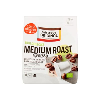 Fairtrade Original Biologisch Koffiecapsules Medium Roast 10+2 Gratis Stuks