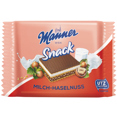Manner Milk-hazelnut wafer