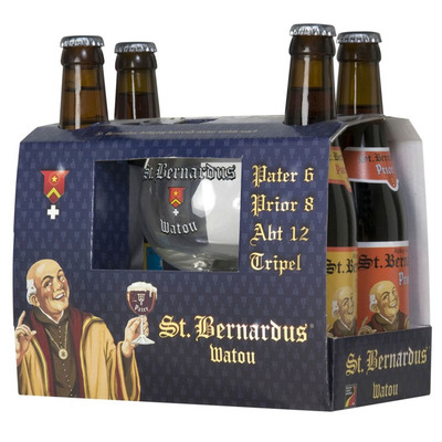 St Bernardus geschenkverpakking + glas
