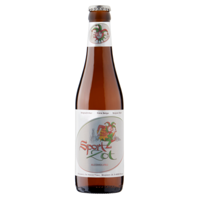 Brugse Zot Belgisch Bier Alcoholvrij Fles 33 cl