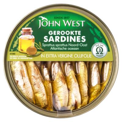 John West Gerookte sardines in olijfolie