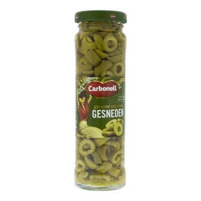 Carbonell Groene olijven gesneden