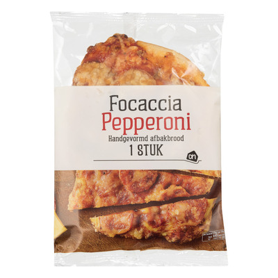 Huismerk Pepperoni focaccia