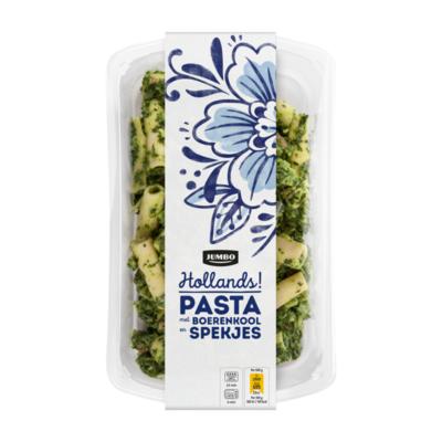 Huismerk Pasta met Boerenkool en Spekjes