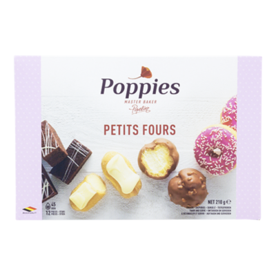 Poppies Petits fours 12st