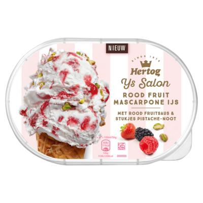 Hertog IJs Salon Rood Fruit Mascarpone IJs