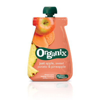 Organix Just apple sweet potato pinapple