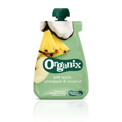 Organix Just apple pineapple and coconut