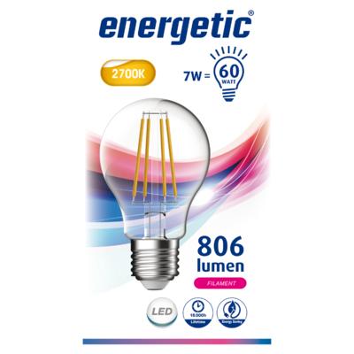 Energetic Led bulb clear 60we27