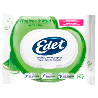 Edet Aloe Vochtig Toiletpapier 42 stuks