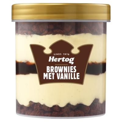 Hertog IJsbeker Brownie Vanille 430 ml