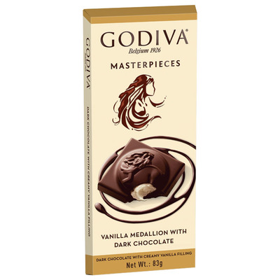 Godiva Masterpieces tablet vanilla medallion