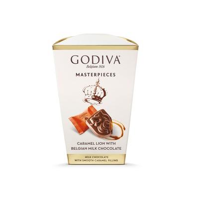 Godiva Masterpieces box milk caramel lion
