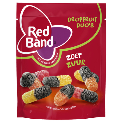 Red Band Magic drop fruit duo's zoet zuur