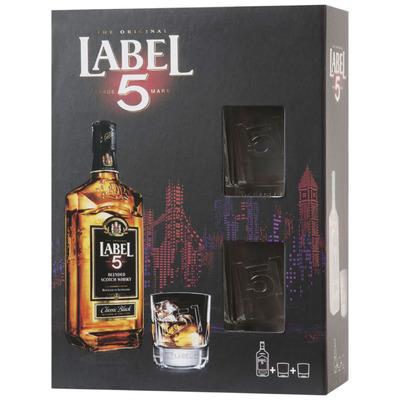 Label 5 met 2 glazen
