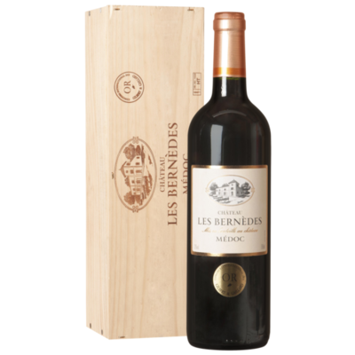 Medoc Chateau Les Bernedes 2014 in Kist 75CL
