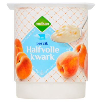 Huismerk Halfvolle kwark perzik