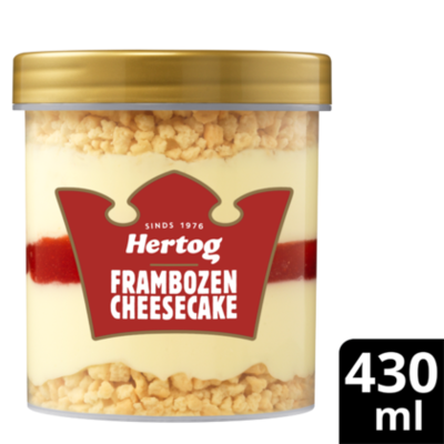 Hertog Framboos cheesecake