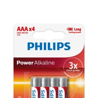 Philips Power Alkaline Aaa/lr03 Blister4