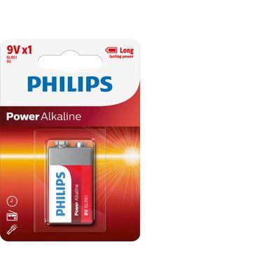 Philips Power Alkaline 9v/6lr61 Blister