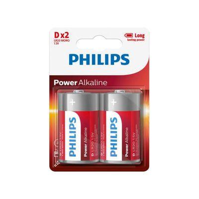 Philips Power Alkaline D/lr20 Blister 2