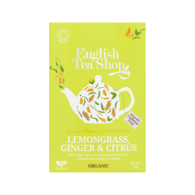 English Tea Shop Lemongrass, Ginger & Citrus 20 Stuks