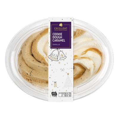 Huismerk Cookie dough caramel ijsdessert
