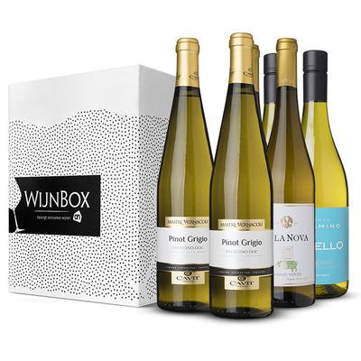 Huismerk De door kenners bekroond wijnbox wit