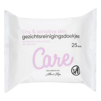 Care Dry skin gezichts reinigingsdoekjes