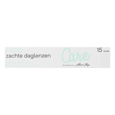 Care Daglenzen -4,00
