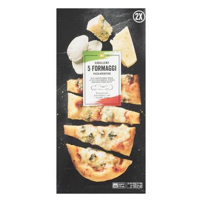 Huismerk Borrelpizza 5 formaggi
