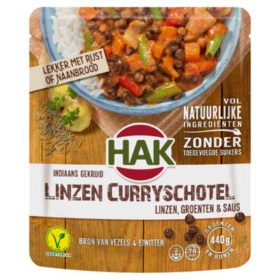 Hak Indiaans Gekruid Linzen Curryschotel Linzen, Groenten & Saus
