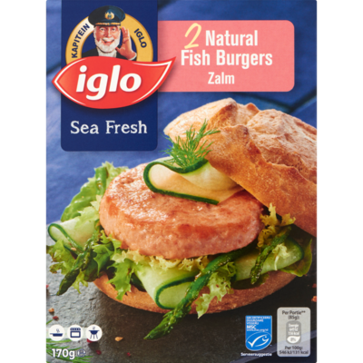 Iglo Sea Fresh Zalmburger 2 Stuks