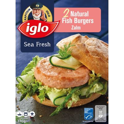 Iglo Natural fish burger zalm