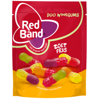 Red Band Duo winegum zoet-fris