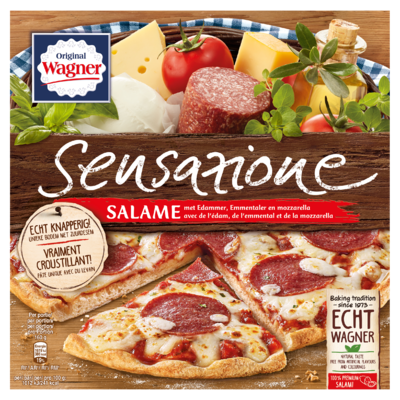 Original Wagner Sensazione Salame met Edammer, Emmentaler en Mozzarella 320 g