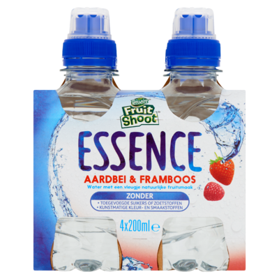Teisseire Fruit Shoot Essence Aardbei & Framboos 4 x 200 ml