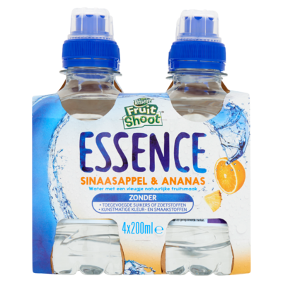 Teisseire Fruit Shoot Essence Sinaasappel & Ananas 4 x 200 ml