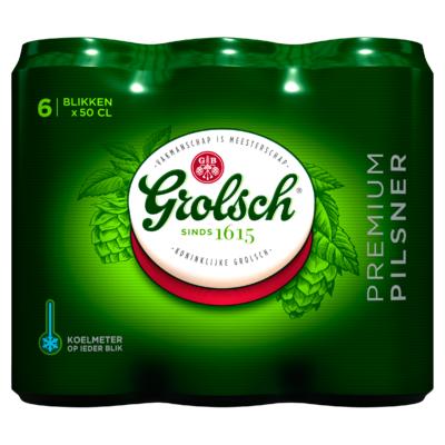 Grolsch Premium Pils Blik 6 x 50 cl