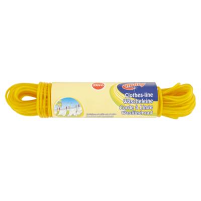Multy Waslijndraad 20meter blauw/rood/geel