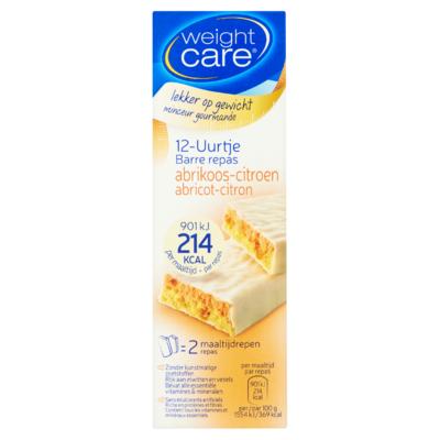 Weight Care 12-Uurtje Abrikoos-Citroen 2 x 58 g