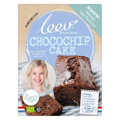 Leev Pauline bio mix choc-chip cake lg suiker
